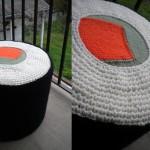 Sushi Pouf en crochet & tricot
