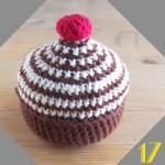 Tuto: La dinette en crochet #17 Cupcake choco-cerise