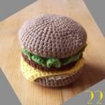 Tuto: La dinette en crochet #22 Le hamburger!