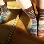 Les chaussettes mixées dépareillées