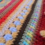 Couverture au crochet *As-we-go stripey blanket* #03