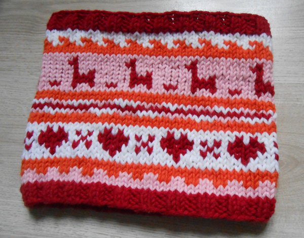 tricoter un snood jacquard
