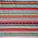 Couverture au crochet *As-we-go stripey blanket* #04