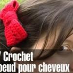 Tuto: barrette noeud en crochet