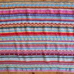 Couverture au crochet *As-we-go stripey blanket* #05