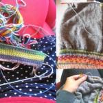 Tricoter un pull façon sweat, la maille à la cool.