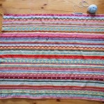 Couverture au crochet *As-we-go stripey blanket* #06