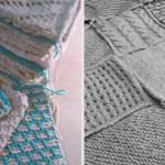 Un plaid en 25 points de tricot