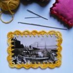 [DIY] Crocheter un cadre en crochet sur une carte postale