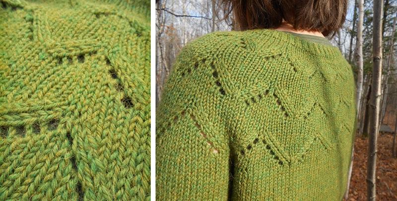 tricoter l'encolure d'un gilet