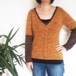Mon pull «Petit Roux» tricoté en laine à chaussettes